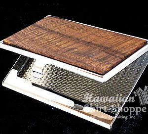 Koa Business Card Holder