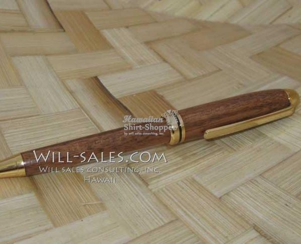 Koa Pen, Custom Hawaiian Koa Wood Bolt Action Pen