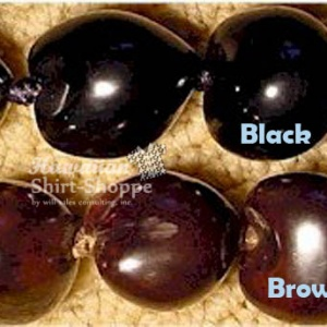 Black and Brown Kukui Nuts