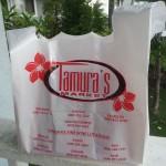 Thick plastic Tamuras bag