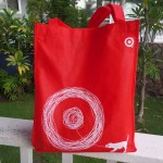 My complimentary Target Bag.