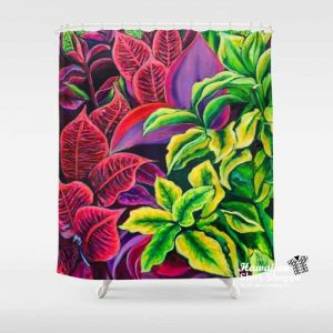 Shower Curtain in Magical Flowers design