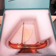 Koa Wood Canoe with Custom Box