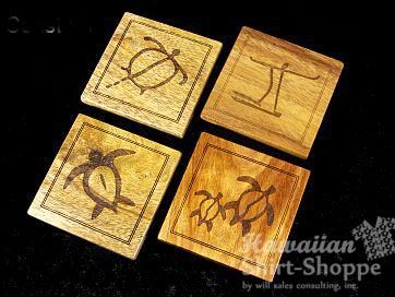 Koa Coasters Engraved