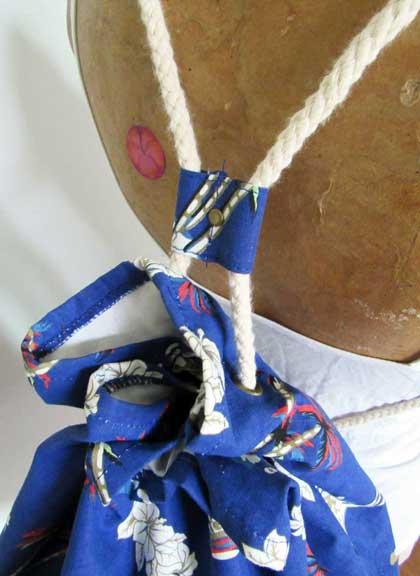 Blue Slingback Tote strap