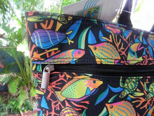 Aquatic Fish Tote front zip