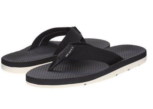 Men's Hokulea Black Flip Flops