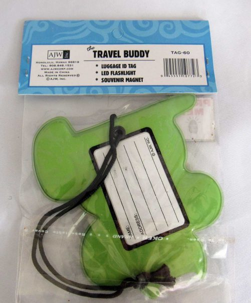 Hawaii Luggage Tag, Light and Magnet
