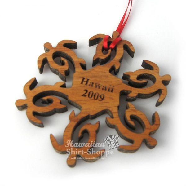 Koa Honu Hooks Ornament