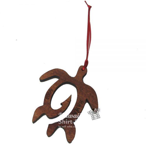 Koa Hook Honu Ornament