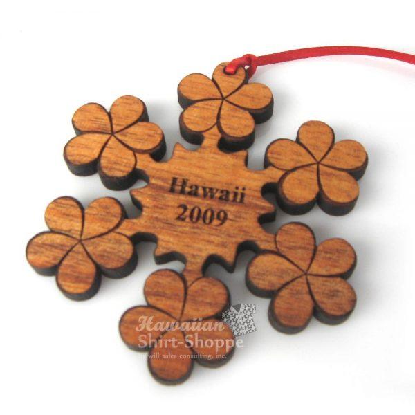 Koa Plumeria Ornament
