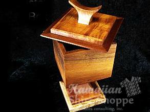 Koa Pedestal Box