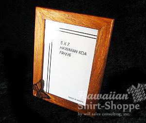 Koa Picture Frame with Icon