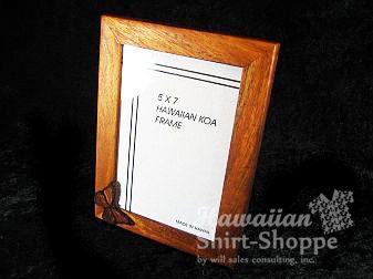 Koa Picture Frame with Icon