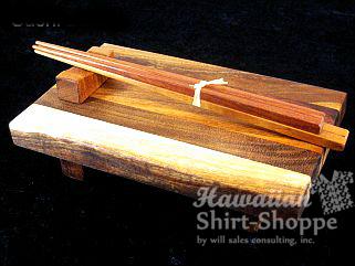 Koa Sushi Board and Chopsticks