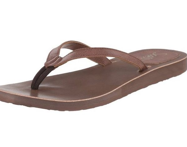 Women's Pikake Brown Flip Flops