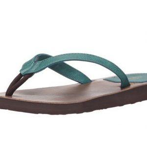 Women's Pikake Teal Flip Flops