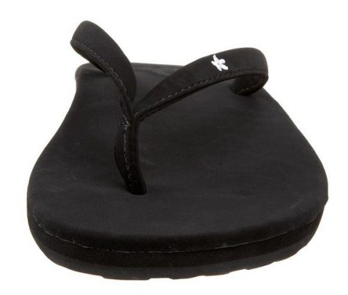 Women's Mele Black Flip Flops