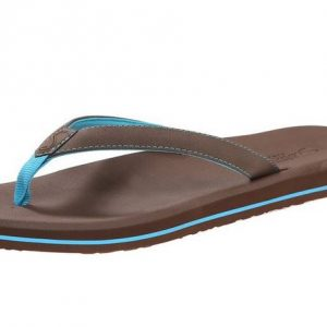 Women's Olena Brown Blue Flip Flops