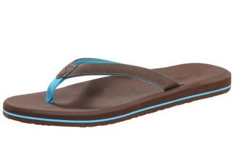 Women's Olena Brown Blue Flip Flops