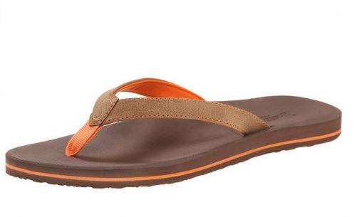 Women's Olena Tan Orange Flip Flops