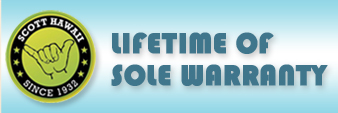 Lifetime of Sole Warranty